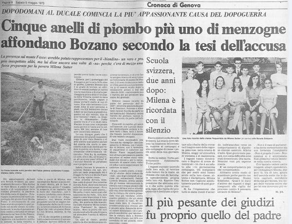 Biondino Spider Rossa - Milena Sutter - il processo a Lorenzo Bozano 2