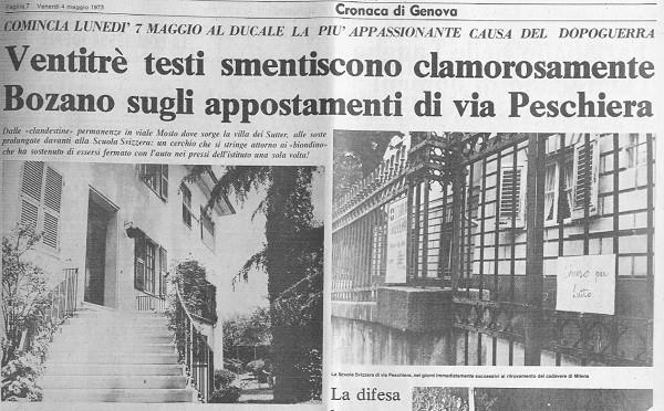 Biondino Spider Rossa - Milena Sutter - il processo a Lorenzo Bozano