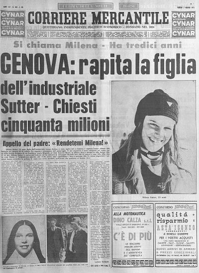 Cold Case Milena Sutter - Sequestro e omicidio
