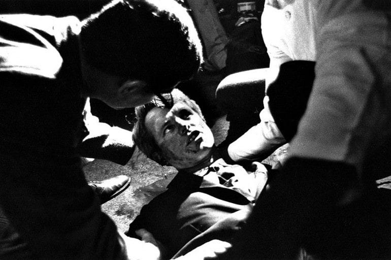 Bob Kennedy dopo il colpo di pistola nell'attentato del 1968 - Stati Uniti - magazine ilbiondino.org - ProsMedia - Agenzia Corte&Media