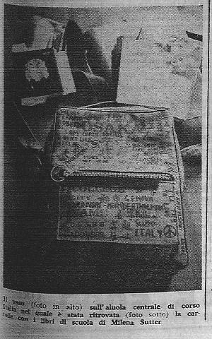 Caso Sutter - borsa di Milena Sutter - 1971