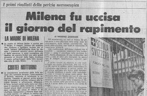 Cold Case - Medicina Legale - Milena Sutter