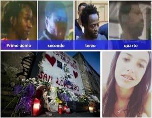 Desirée Mariottini e i giovani fermati a Roma