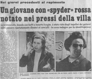 Biondino della Spider Rossa - sequestro e omicidio Milena Sutter - Lorenzo Bozano