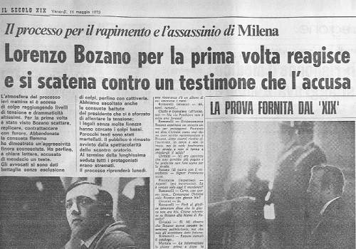 Lorenzo Bozano e le menzogne - Milena Sutter - sequestro e omicidio