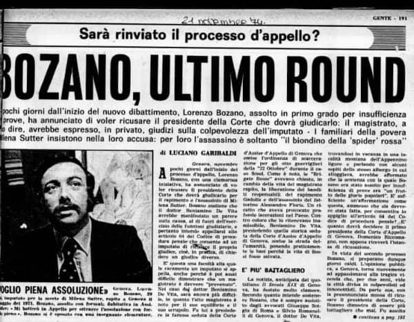 Lorenzo Bozano - imputato processo sul caso Milena Sutter