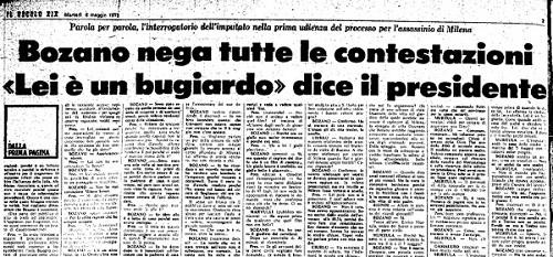 Lorenzo Bozano - menzogna - Milena Sutter - sequestro e omicidio