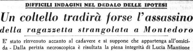 Lucia Mantione, Montedoro, Luciedda - articolo di giornale - magazine ilbiondino.org - ProsMedia - Agenzia Corte&Media