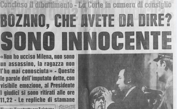 Milena Sutter, Lorenzo Bozano, analisi dei media - sequestro e omicidio - Genova - 1973