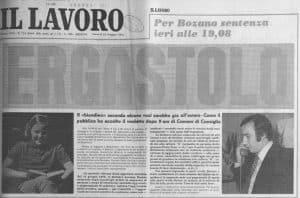 Milena Sutter, Lorenzo Bozano, analisi dei media - sequestro e omicidio - Genova - processo 1975