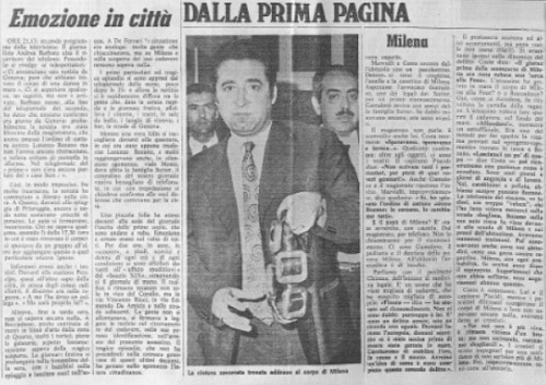 Milena Sutter - Lorenzo Bozano - la cintura da sub - maggio 1971