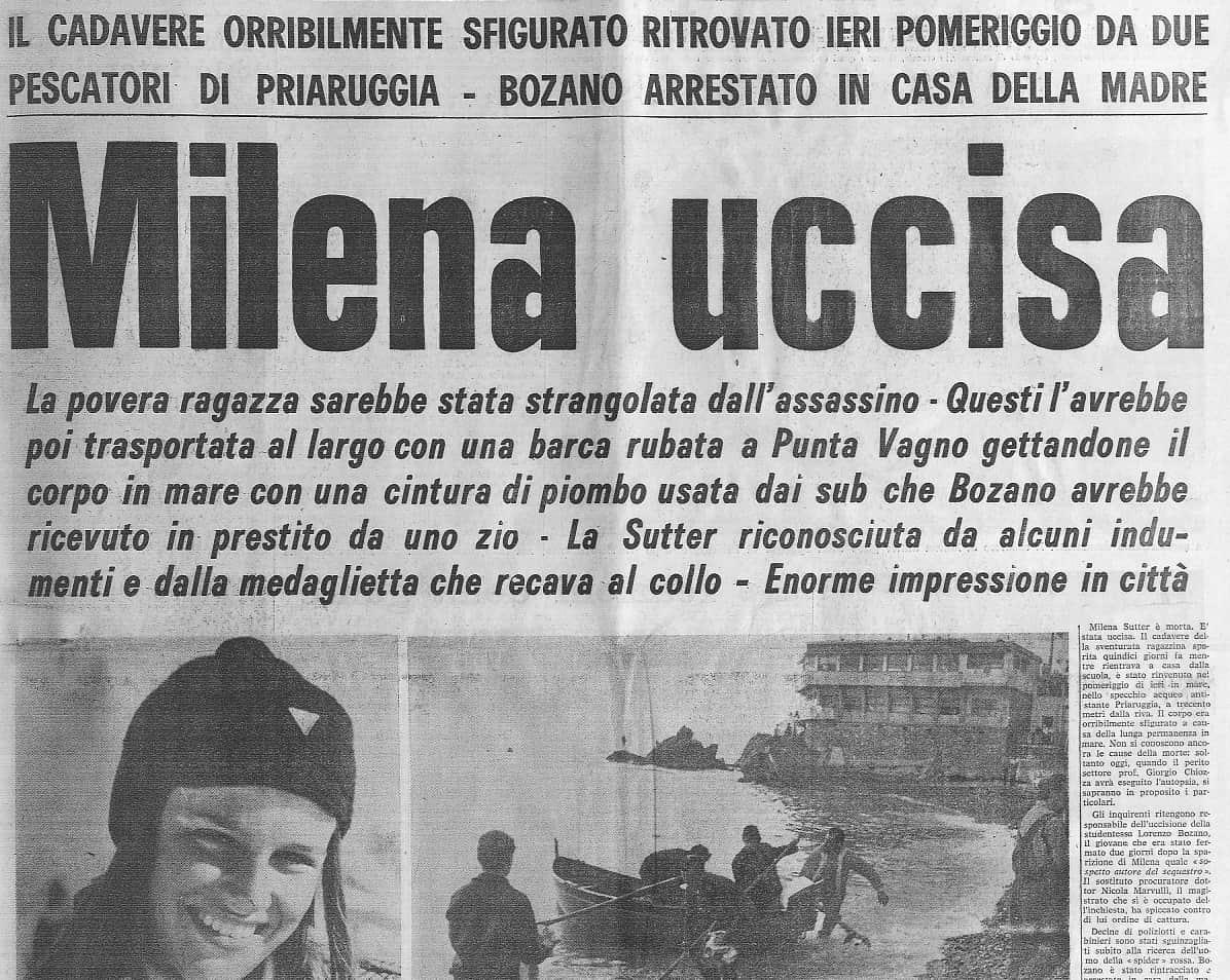 Milena Sutter - Rapimento e omicidio - Genova - 6 maggio 1971 - www.ilbiondino.org