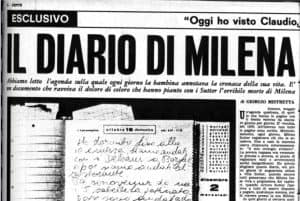 Milena Sutter scriveva un diario come Yara Gambirasio