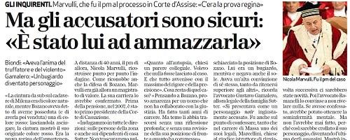 Nicola Marvulli, magistrato, pubblico ministero caso Milena Sutter - intervista al giornale L'Arena di Verona - 2011