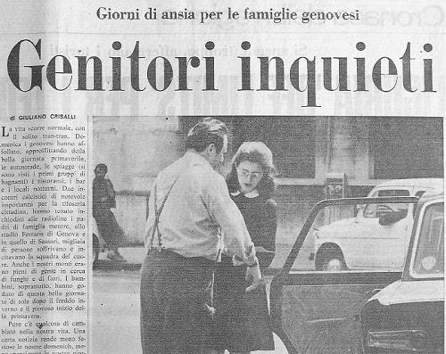 Sequestro e omicidio Milena Sutter - Genova - maggio 1971 - paura in città