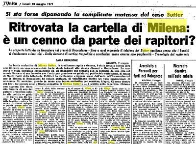 Sequestro e omicidio di Milena Sutter - condannato Lorenzo Bozano - biondino spider rossa